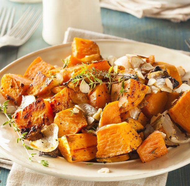 Zoete aardappel bravas